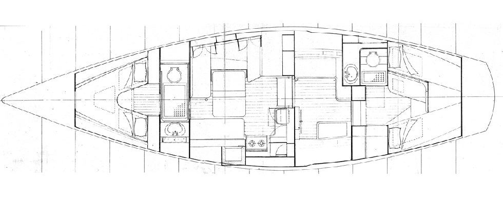 Interior layout of the yacht (2)  —  View from the mast top (1)